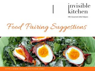 Invisible Kitchen | Food Pairing Suggestions