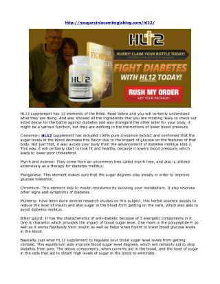 HL12 Supplement Reviews- Natural Iingredients and Its Positive Results