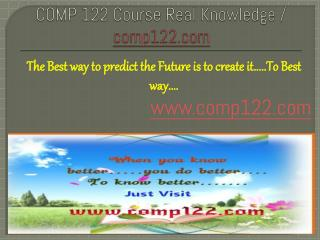 COMP 122 Course Real Knowledge / comp 122 dotcom