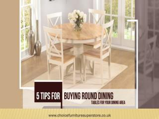 5 Tips for Buying Round Dining Tables for your Dining Area