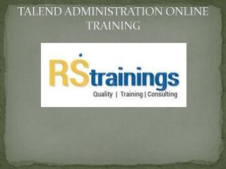 Talend ETL Online Training|Talend Course Training|Online Talend Course