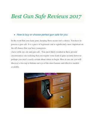 Best Gun Safe Reviews 2017