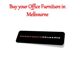 Buy your Office Furniture in Melbourne