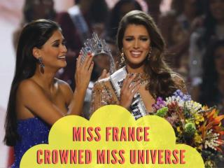 Miss France crowned Miss Universe