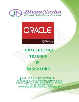oracle pl/sql training in Bangalore