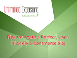 Tips to Create a Perfect, User-Friendly E-Commerce Site