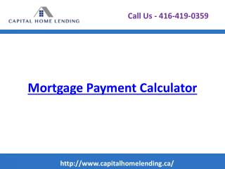 Mortgage Payment Calculator - Calculate Your Mortgage Payments