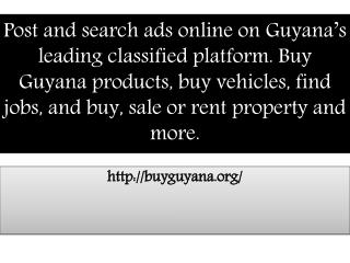 Buy Guyana Products