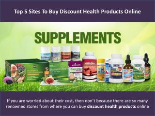 Top 5 sites to buy discount health products online