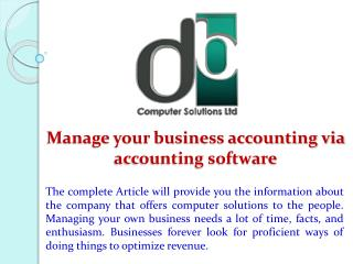 Manage your business accounting via accounting software