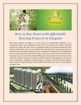 Huda New affordable housing scheme Gurgaon