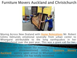 Furniture Movers Auckland and Christchurch