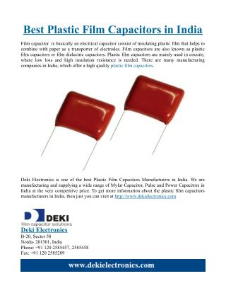 Best Plastic Film Capacitors in India