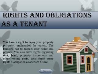 Rights and Obligations as a tenant