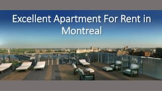 Excellent Apartment For Rent in Montreal