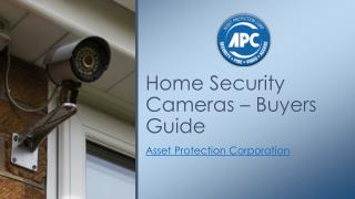 Home Security Cameras – Buyers Guide