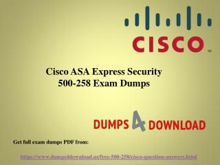 Final Cisco 500-258 Exam Study Material - Dumps4Download.us