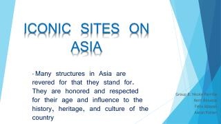 Asian Iconic Sites
