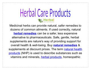 Herbal Care Products Online Treatment