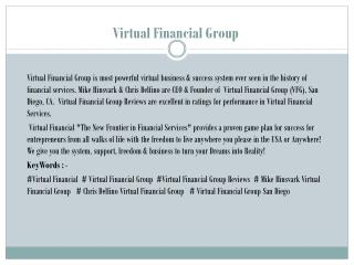 Virtual Financial Group ! Top Earning Industry Leaders