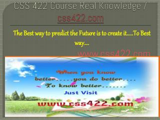 CSS 422 Course Real Knowledge / css 422 dotcom