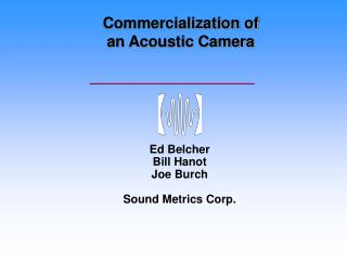 Commercialization of  an Acoustic Camera