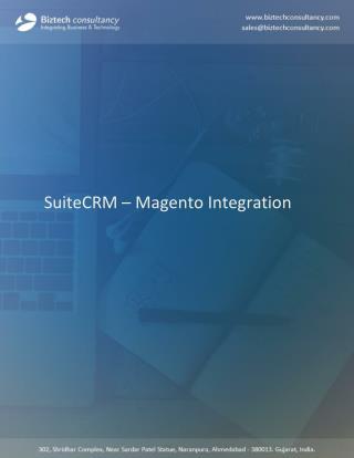 Magento SuiteCRM Integration Solutioins