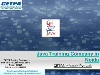 Java Training Company in Noida