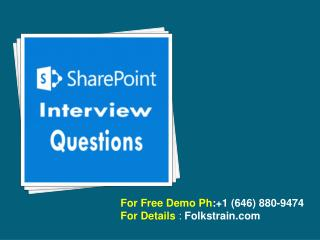 SharePoint Online Trianing