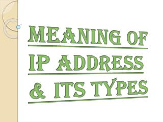 Know About Static or Dynamic IP Address
