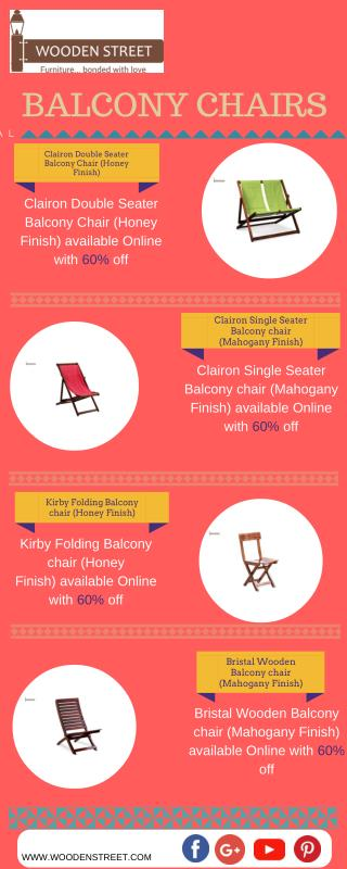 Latest Collection Of Modern Designed Balcony Chairs Online
