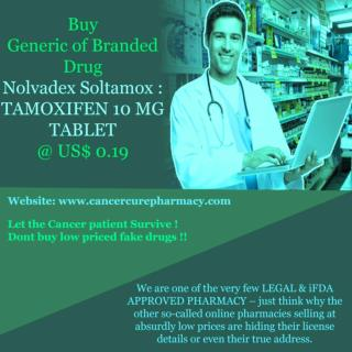 Buy Nolvadex Soltamox - Tamoxifen 10 Mg Tablet @ Us$ 0.19