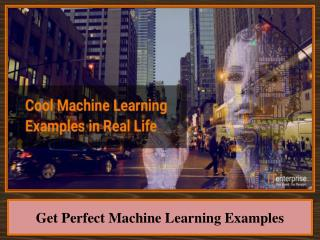 Get Perfect Machine Learning Examples