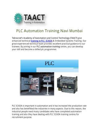 PLC Automation Training Navi Mumbai
