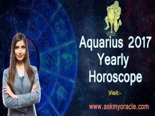 Aquarius Astrology Forecast 2017 | Aquarius Career Horoscope