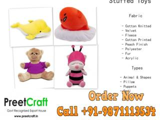 Stuffed Toys Manufacturer Exporter and Supplier (PreetCraft)