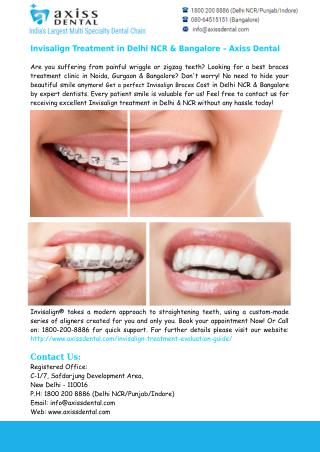 Invisalign Braces Cost in Delhi NCR & Bangalore