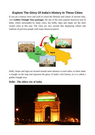 Explore The Glory Of India's History In These Cities