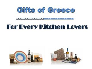Gifts of Greece : For Every Kitchen Lovers