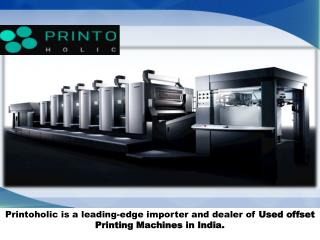 Used Offset Printing Machines in Delhi