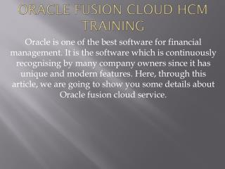 Oracle Fusion Financials Cloud HCM