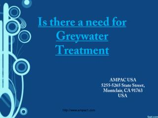 Waste Water Treatment: Grey Water Treatment Systems