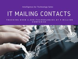 IT Mailing Contacts - Technology User Lists - B2B Email Lists