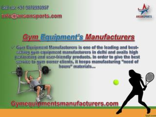 Gym Equipment Manufacturer serving its customers for last 30 years is completely a reliable manufacturer and known at th