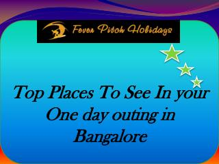 Top places to see in your one day outing in Bangalore