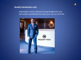 Mens Handmade suits