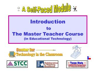 Introduction to  The Master Teacher Course (in Educational Technology)
