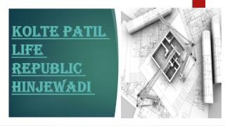 Kolte Patil Life Republic Home Plan in Hinjewadi Pune