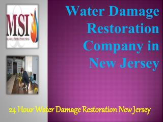 Water Damage Restoration Company in New Jersey