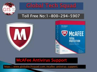 Support For McAFee Antivirus Toll Free 1-800-294-5907